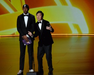 Nick Cannon and Ken Jeong at Primetime Emmy Awards in Los Angeles