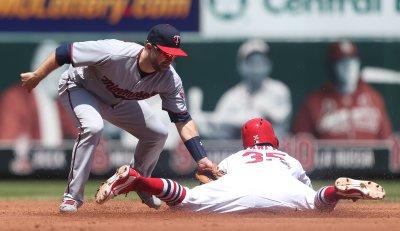 St. Louis Cardinals Greg Garcia out stealing