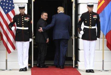 President Trump welcomes Mongolia's president to White House
