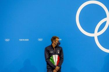 Gregorio Paltrinieri Italy Silver Medal Winner at the Tokyo Olympics