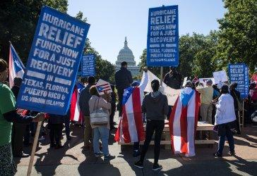 Hurricane Relief Protest in Washington, D.C.