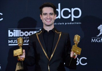 Brendon Urie wins Top Rock Song award at the 2019 Billboard Music Awards in Las Vegas