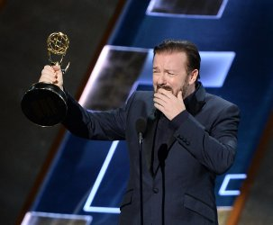 Ricky Gervais at the 67th Primetime Emmys in Los Angeles