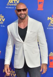 Dave Bautista attends the MTV Movie & TV Awards in Santa Monica, California