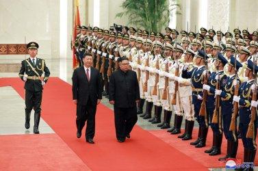 North Korean Leader Kim Jong Un Visits Chinese President Xi Jinping in Beijing