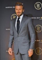 David Beckham Promotes Marina Bay Sands