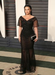 Demi Lovato arrives at the Vanity Fair Oscar Party in Beverly Hills