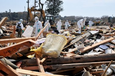 Search for victims continues one month after earthquake, tsunami struck Japan