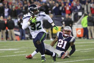 Seahawks Michael carry against Patriots