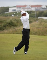 Tiger Woods on the 2nd day of the Open Championship at Royal Portrush