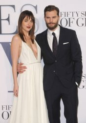 The UK Premiere of 'Fifty Shades Of Grey' in London.