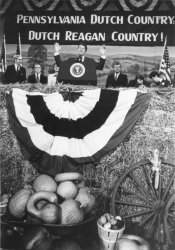 President Reagan Addresses Students at Millersville University