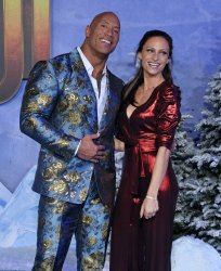 "Dwayne Johnson and Lauren Hashian attend the ""Jumanji: The Next Level"" premiere in Los Angeles"