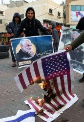 Palestinians Celebrate  Iranian Attack on The US Military Bases in Iraq