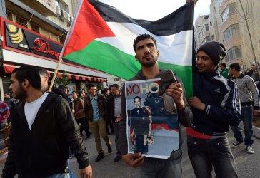 Palestinians Protest Visit Of President Barack Obama, West Bank