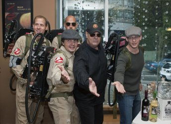 Actor Dan Aykroyd promotes Patron Tequila at BC Liquor Signature Store bottle signing in Vancouver