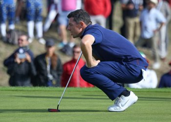 Rory McIlroy at the Ryder Cup 2018