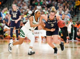 Notre Dame's Marina Mabrey in the NCAA Women's Basketball Championship