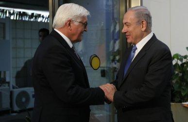 German President Frank-Walter Steinmeier and Israel Prime Minister Benjamin Netanyahu in Jerusalem