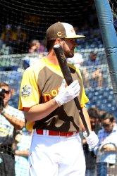National League's Kris Bryant batting in San Diego