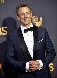 Seth Meyers attends the 69th annual Primetime Emmy Awards in Los Angeles