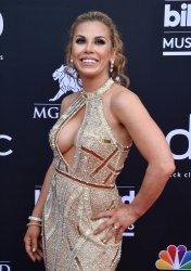 Mickie James attends the 2019 Billboard Music Awards in Las Vegas