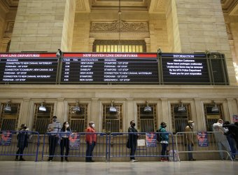 Pop-Up Vaccination Site at Grand Central Terminal in New York