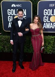 Joe Managaniello and Sofia Vergara attend the 77th Golden Globe Awards in Beverly Hills