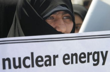 IRAN STAGES DEMONSTRATION SUPPORTING NUCLEAR POWER