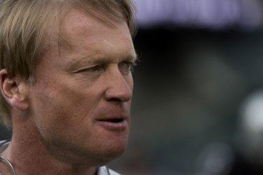 Oakland Raiders Head Coach Jon Gruden plays Lions