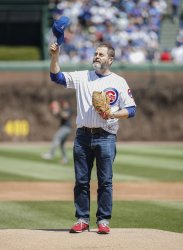 Nick Offerman throws out ceremonial first pitch at Wrigley Field in Chicago