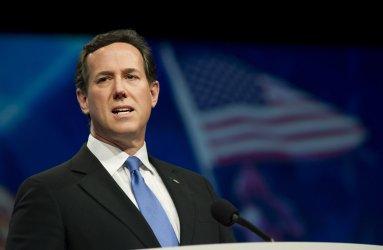 Republican Presidential candidate Rick Santorum speaks at the AIPAC in Washington