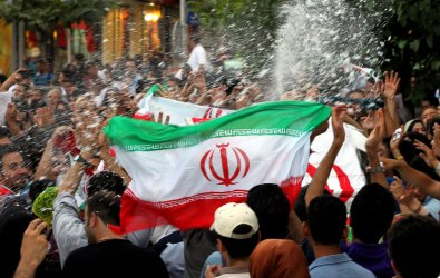 Iranians celebrate the qualification of  their soccer team  for 2014 World Cup