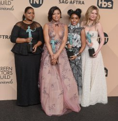 """""""Hidden Figures"""" cast wins award at the 23rd annual SAG Awards in Los Angeles"""