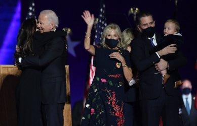 President-elect Joe Biden delivers his victory speech in Wilmington, Delaware