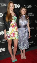 "Sophie Turner and Maisie Williams attend opening of  ""Game of Thrones"" exhibit in New York"