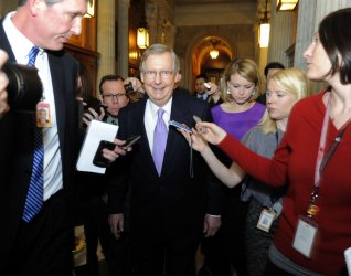 Senate Minority Leader McConnell attends Republican Caucus lunch