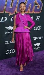 "Zoe Saldana attends ""Avengers: Endgame"" premiere in Los Angeles"