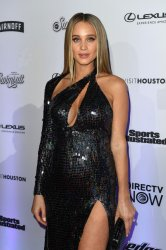 Model Hannah Jeter at the Sports Illustrated Swimsuit launch in New York