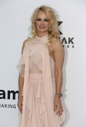 Pamela Anderson attends the amfAR Gala in Antibes