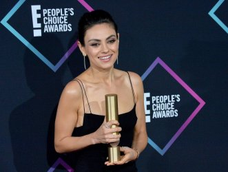 Mila Kunis wins Comedy Movie of 2018 award at 44th annual E! People's Choice Awards in Santa Monica, California