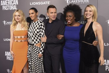"""Dakota Fanning, Jennifer Connelly, Ewan McGregor Uzo Aduba and Valorie Curry attend a screening of """"American Pastoral""""  in Beverly Hills, California"""