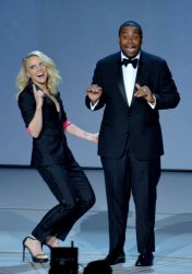 Kate McKinnon and Kenan Thompson onstage during the 70th annual Primetime Emmy Awards in Los Angeles