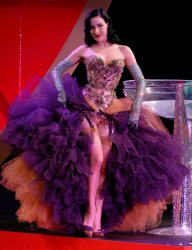 DITA VON TEESE PERFORMS AT THE EROTICA EXHIBITION IN LONDON