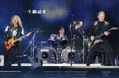Metallica performs in concert in Paris