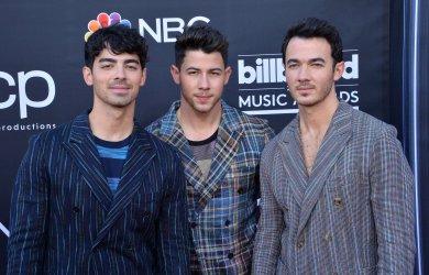 Joe Jonas, Nick Jonas and Kevin Jonas attend the 2019 Billboard Music Awards in Las Vegas