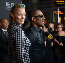 "Eddie Murphy and Paige Butcher attend the ""Mr. Church"" premiere in Los Angeles"