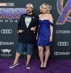 "Kevin Smith and Harley Quinn Smith attend ""Avengers: Endgame"" premiere in Los Angeles"