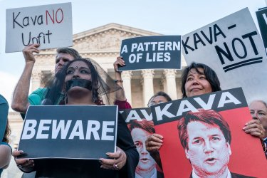 Vigil at Supreme Court against nominee Brett Kavanaugh