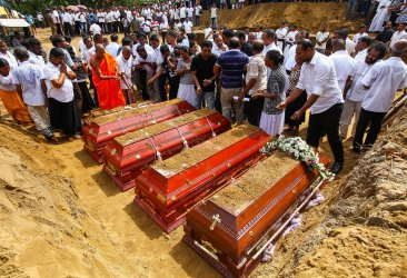 Mass Burial For Bombings Victims of Sri Lanka Bombings